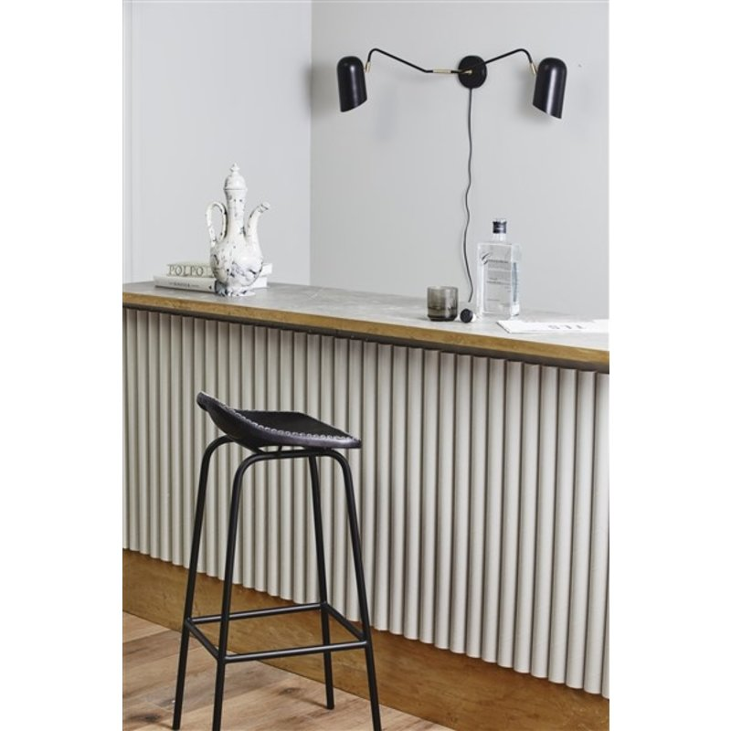 Nordal-collectie GARDA bar chair, black leather