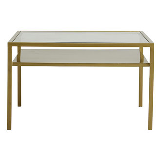 Nordal ETNE coffee table, golden w/clear glass