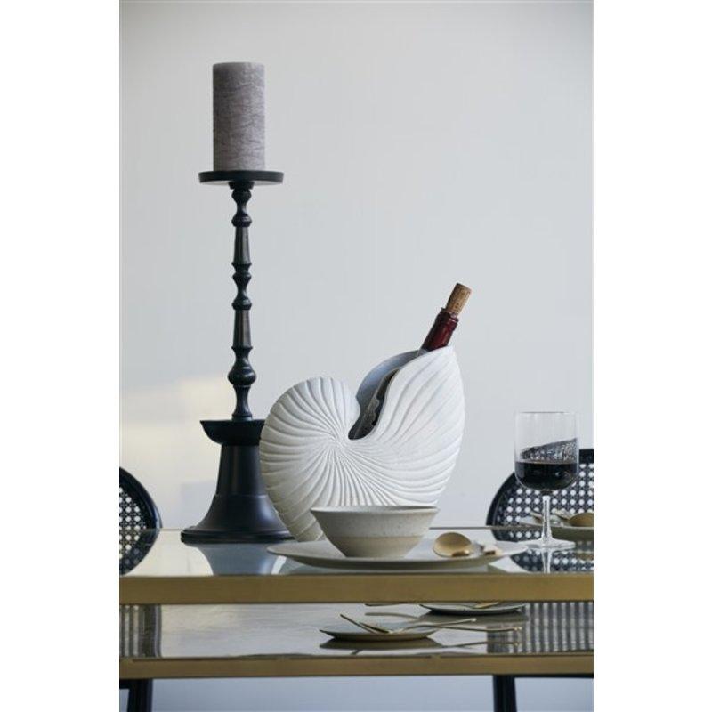 Nordal-collectie Kandelaar FLORES L zwart
