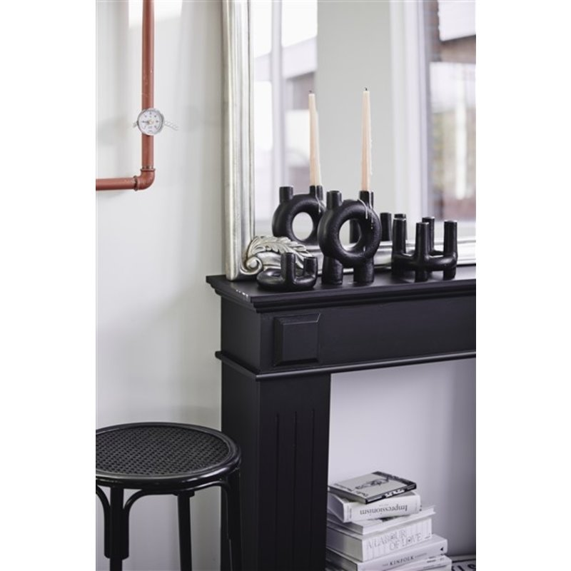Nordal-collectie SENJA candle holder, 4 candles, black