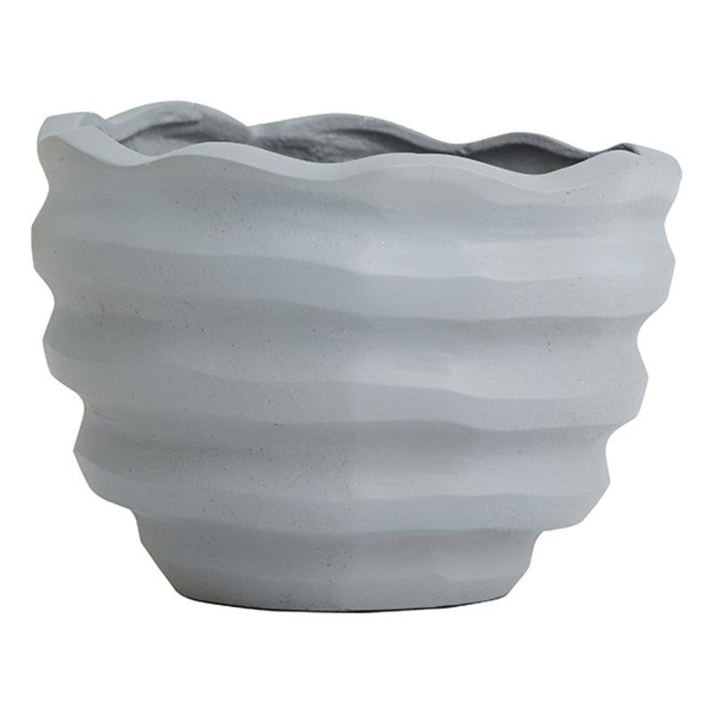 Nordal-collectie KAWAU  flower pot, grey, small