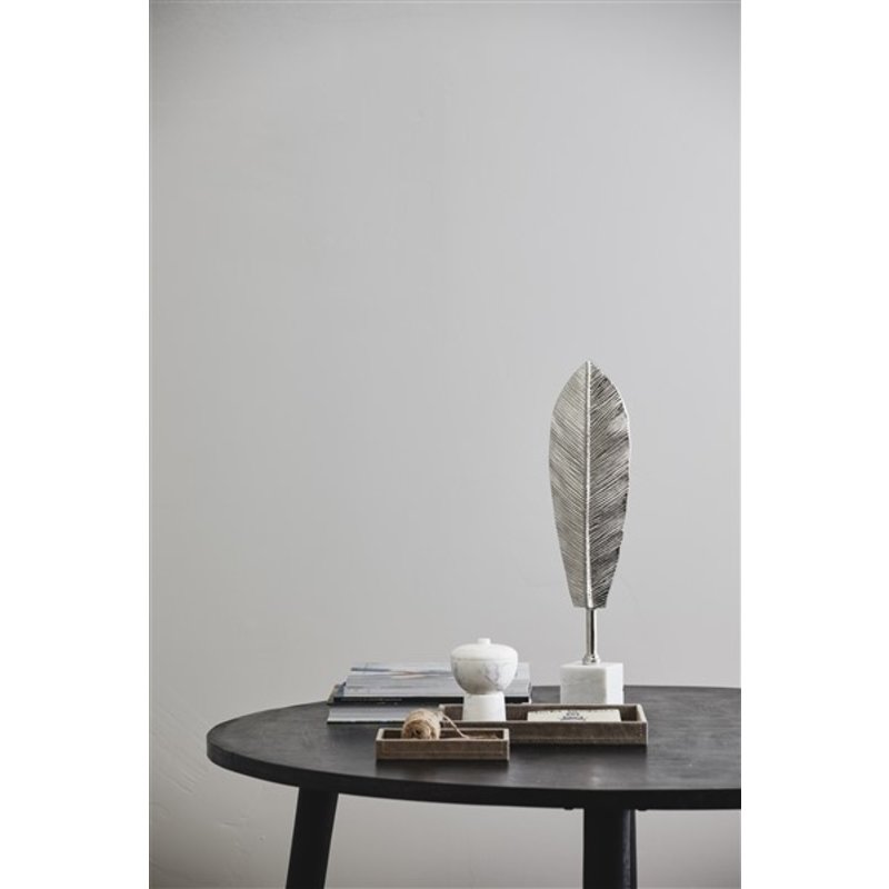 Nordal-collectie MAUI deco leave stand, silver finish