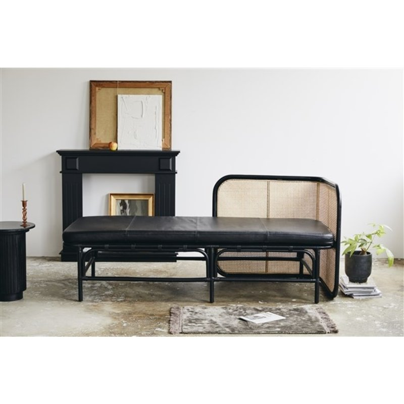 Nordal-collectie GLOMMA day bed w/black leather mattress