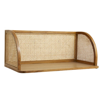 Nordal MERGE wall table w/rattan, natural