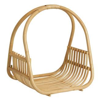 Nordal ROA basket w/handle, polished rattan