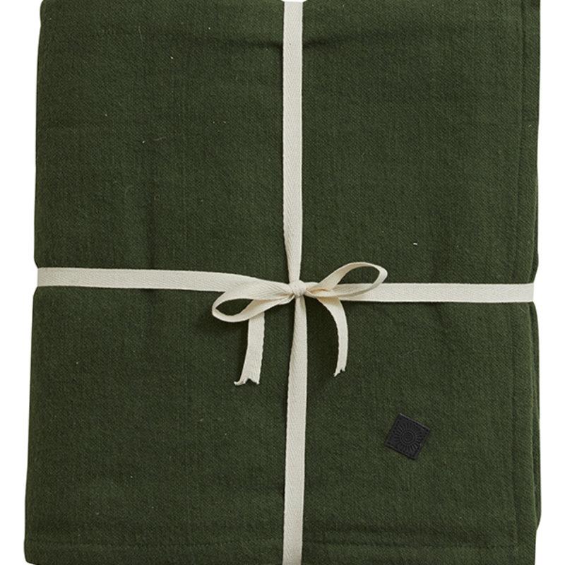 Nordal-collectie YOGA cotton blanket, dark green