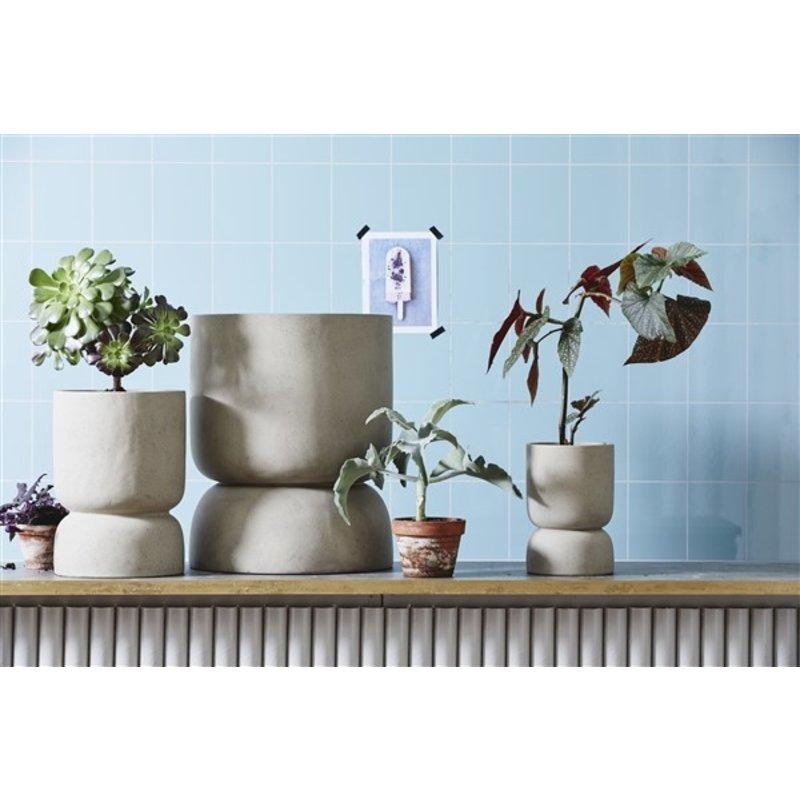 Nordal-collectie AJONU pot, L, grey