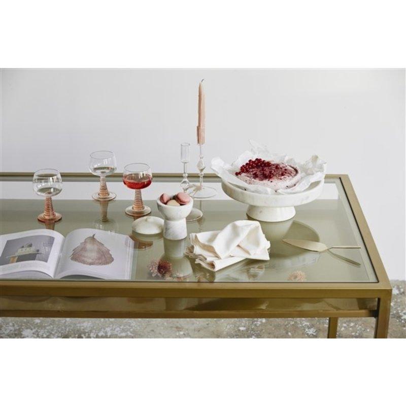 Nordal-collectie IMATRA dish on base, white marble