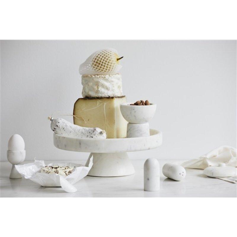 Nordal-collectie Peper en zoutstel SUMAK wit marmer
