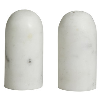Nordal Peper en zoutstel SUMAK wit marmer