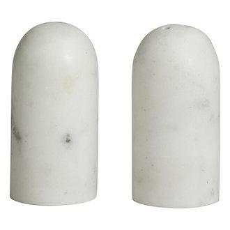 Nordal SUMAK salt/pepper shakers, white marble