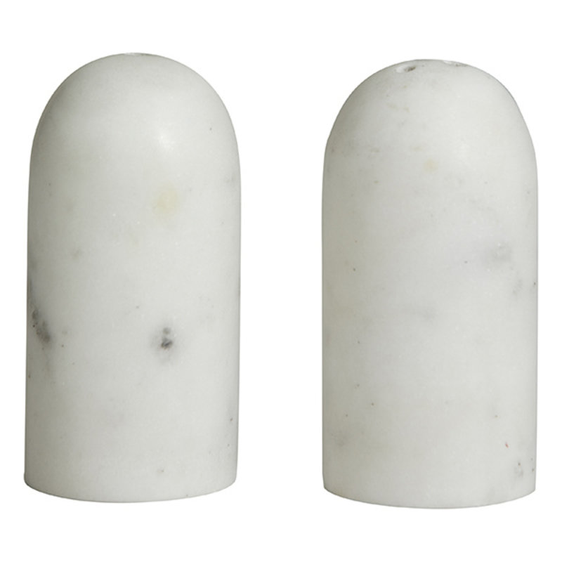 Nordal-collectie SUMAK salt/pepper shakers, white marble