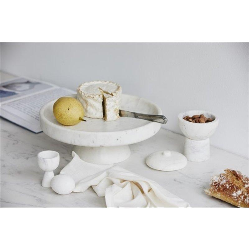 Nordal-collectie Opbergpot KALI met deksel wit marmer