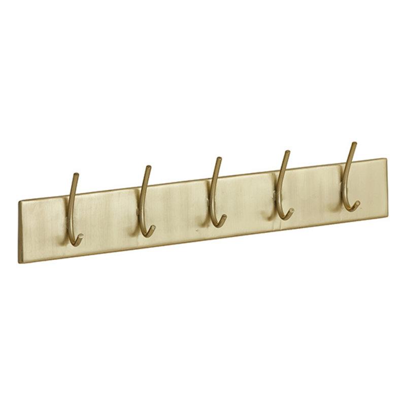 Nordal-collectie HAAOY coat rack, 5 hooks, golden metal