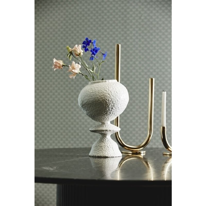 Nordal-collectie HITRA candle holder, golden, large