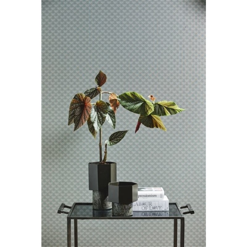 Nordal-collectie HEPTA vase/pot, large, army green