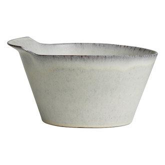Nordal Kom TORC keramiek L gebroken wit geglazuurd