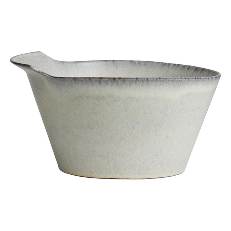 Nordal-collectie Kom TORC keramiek L gebroken wit geglazuurd