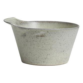 Nordal TORC ceramic bowl, M, off white glaze