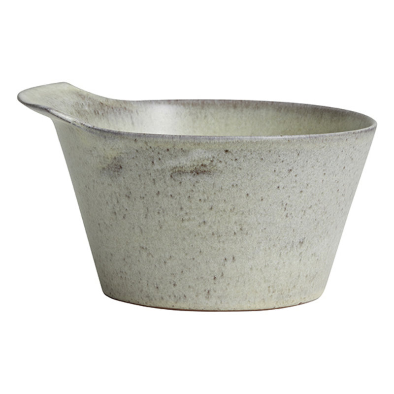 Nordal-collectie TORC ceramic bowl, M, off white glaze