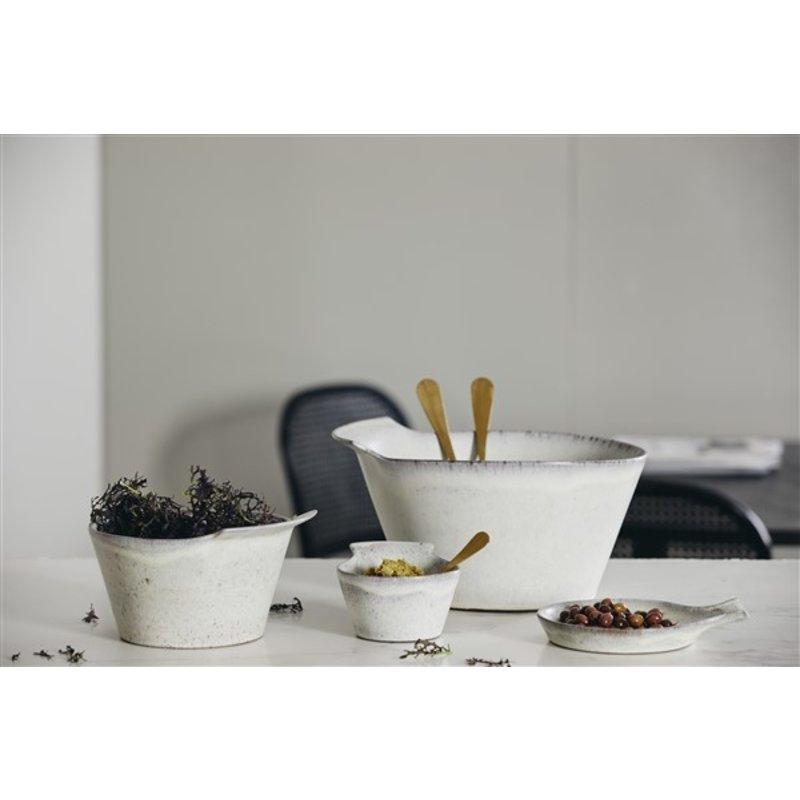 Nordal-collectie Kom TORC keramiek M gebroken wit geglazuurd