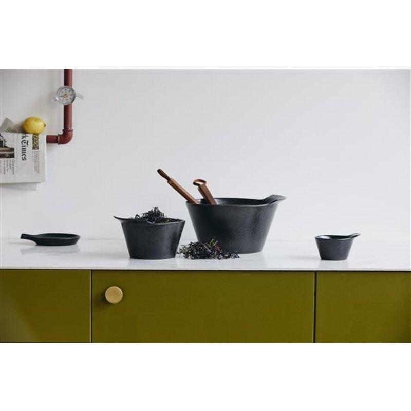 Nordal-collectie Kom TORC keramiek M zwart geglazuurd