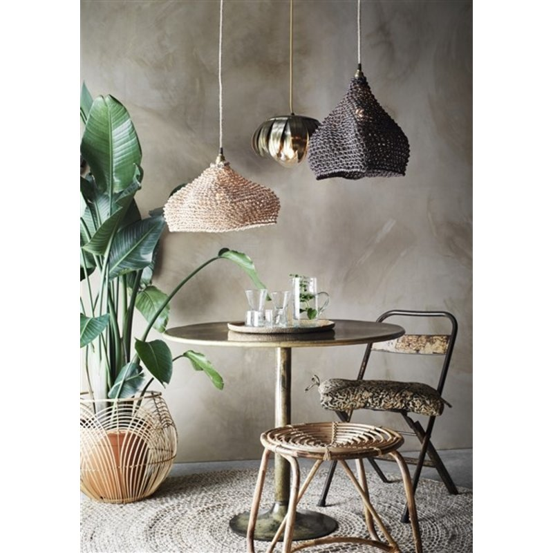 Madam Stoltz-collectie Paper rope lamp shade - brown