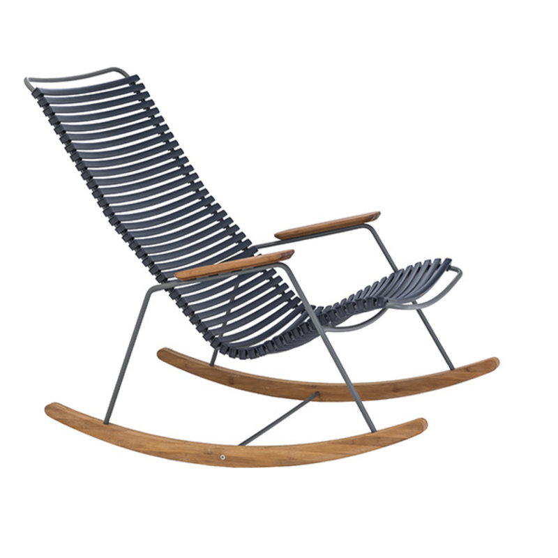 Houe-collectie CLICK Rocking Chair with Dark Blue lamellas