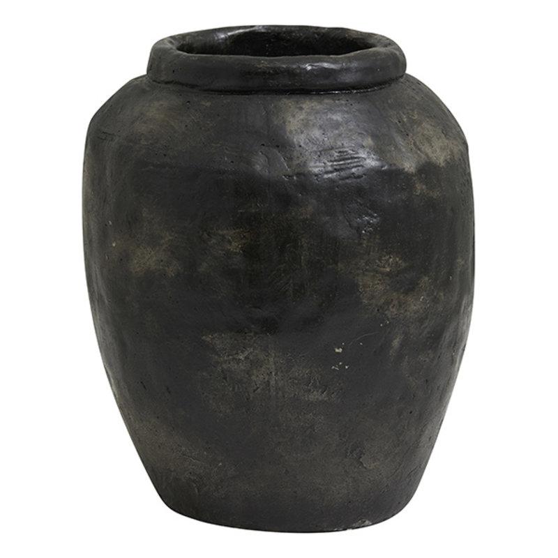 Nordal-collectie Bloempot CEMA M zwart