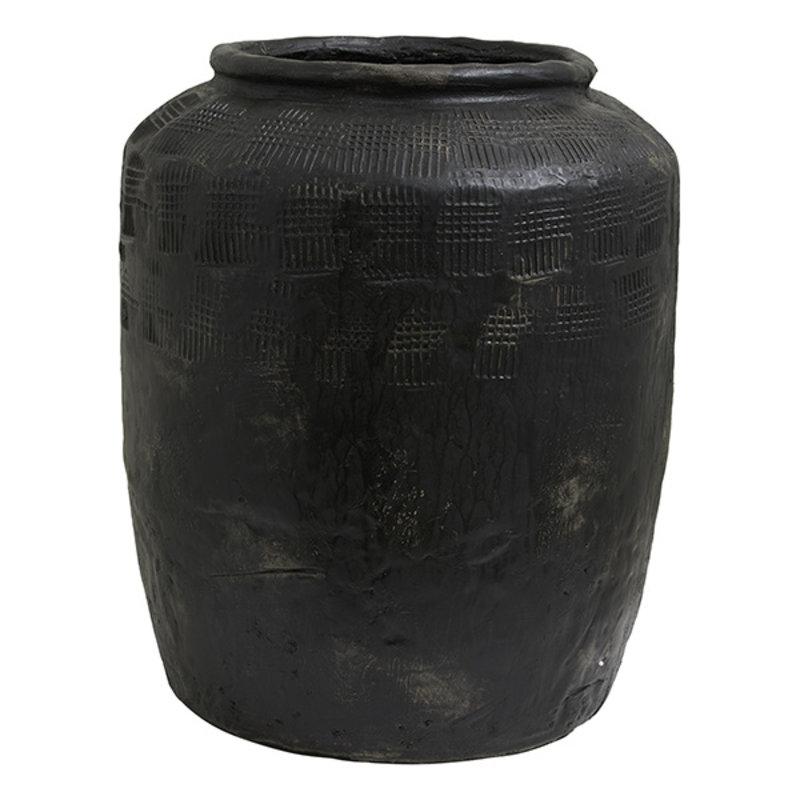 Nordal-collectie Bloempot CEMA XL zwart