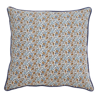 Nordal COSMO cushion cover, blue/brown flowers