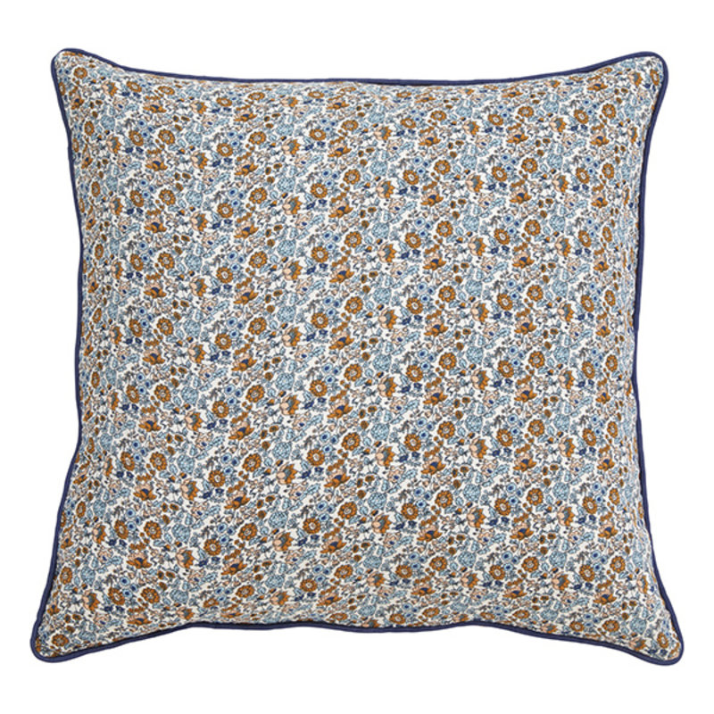 Nordal-collectie COSMO cushion cover, blue/brown flowers