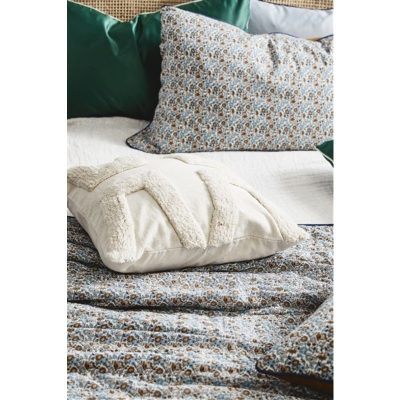 Nordal-collectie COSMO quilt, blue/brown flowers