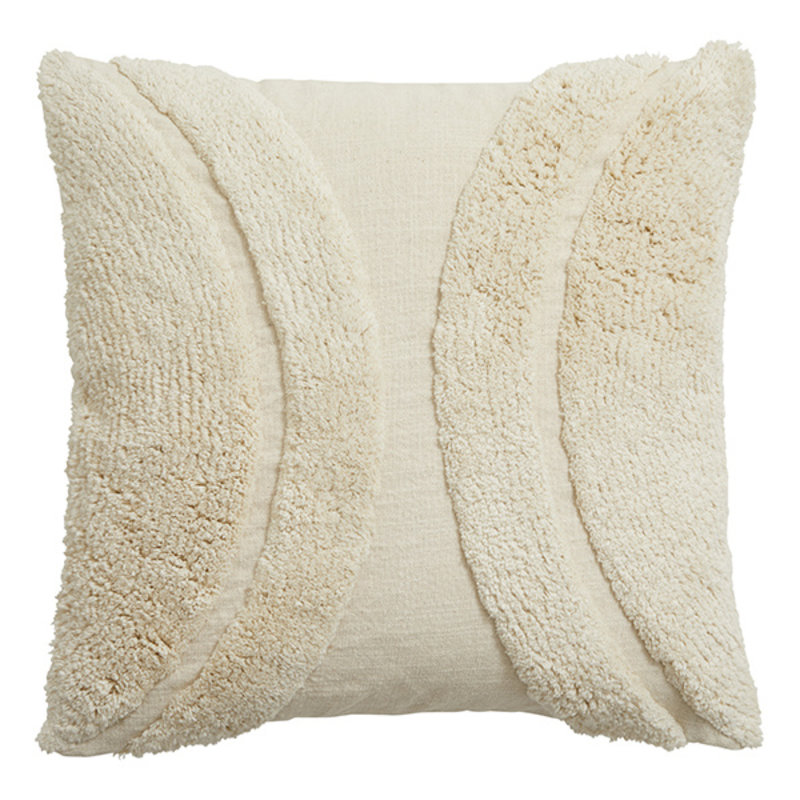 Nordal-collectie RANA cushion cover, off white, rya