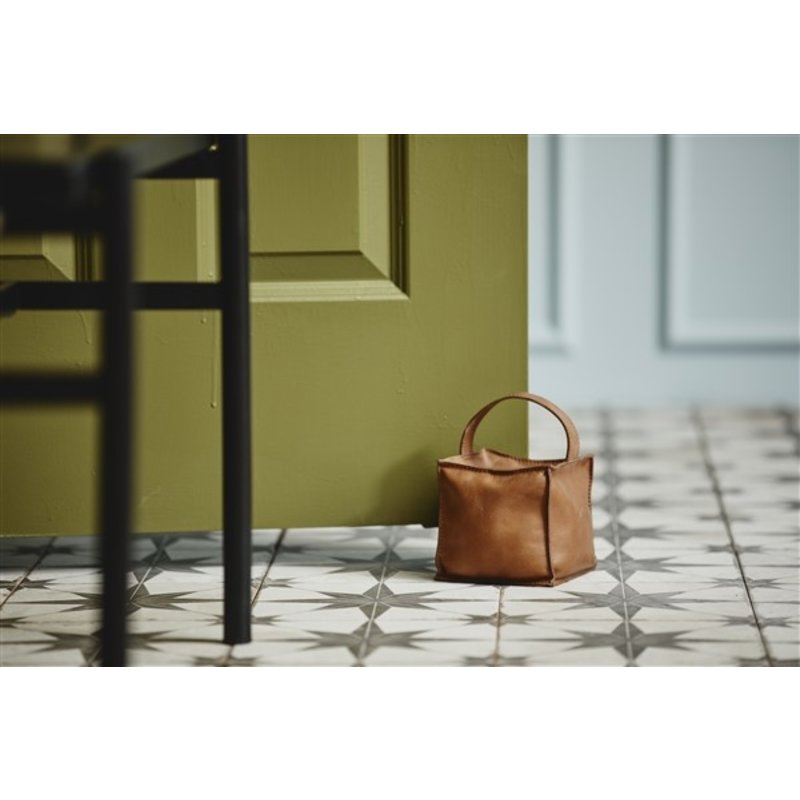 Nordal-collectie COOK door stopper, square, leather