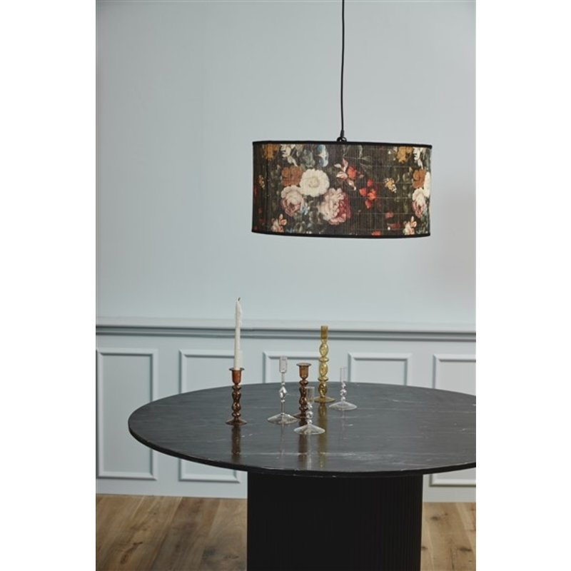 Nordal-collectie ERIE round dining table black marble top