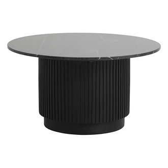 Nordal ERIE round coffee table black marble top