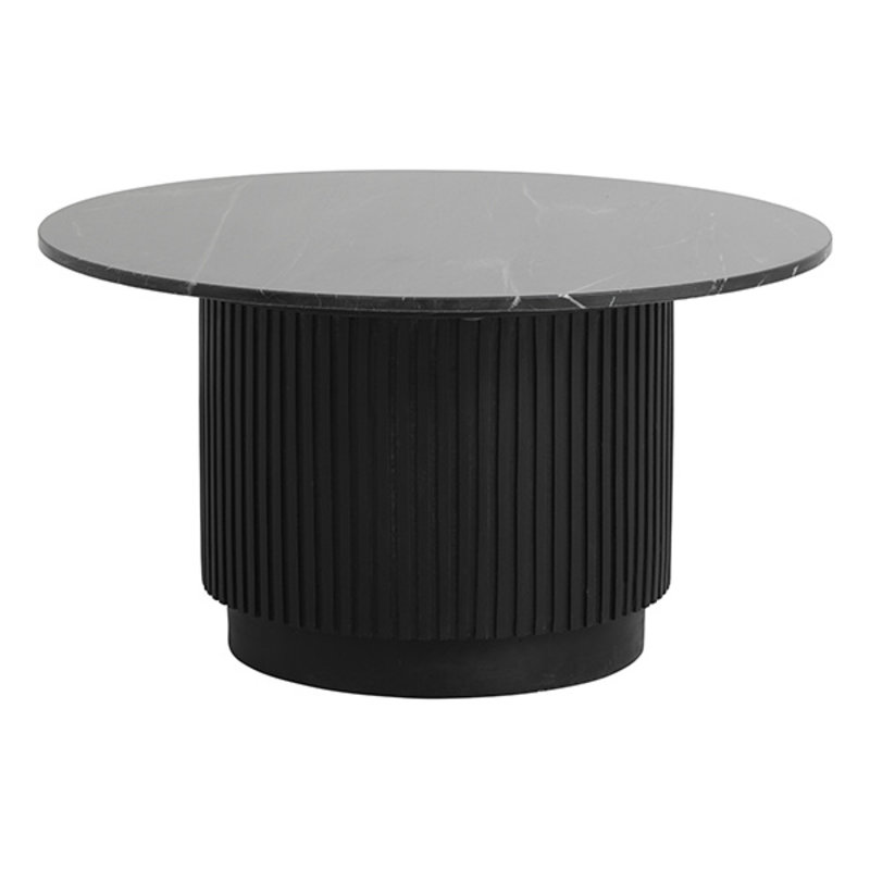 Nordal-collectie Ronde salontafel ERIE Ø75 zwart marmer