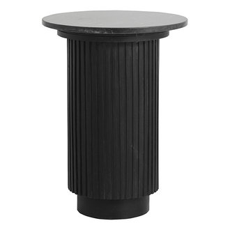Nordal ERIE round side table, black marble top