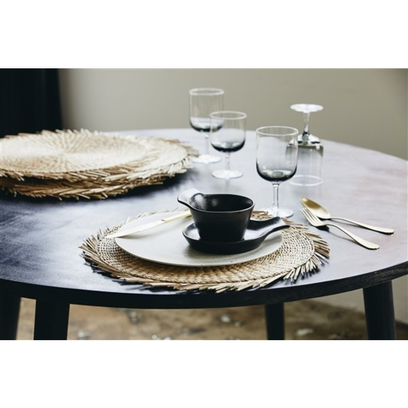 Nordal-collectie HAU round dining table, black wood