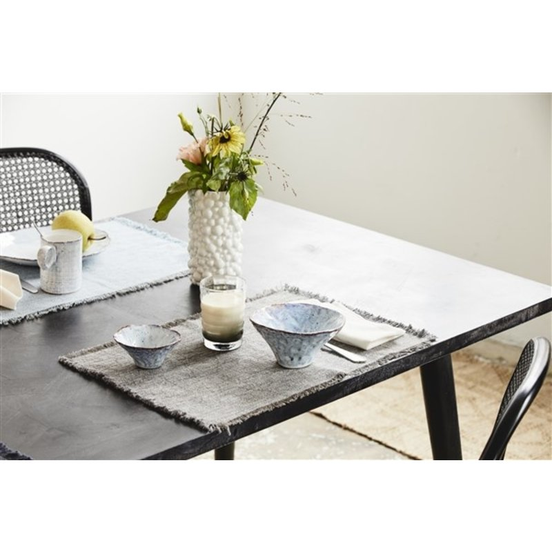 Nordal-collectie HAU square dining table, black wood