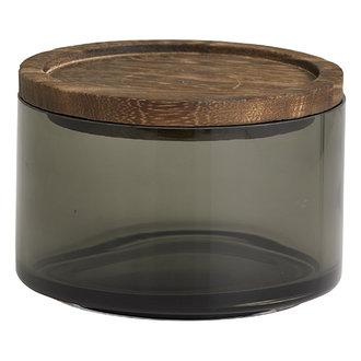 Nordal Glazen opbergpot BASILICO S rookglas