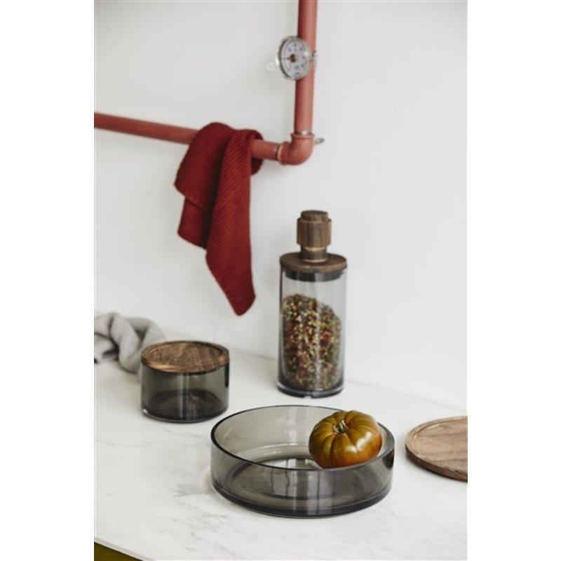 Nordal-collectie Glazen opbergpot BASILICO S rookglas