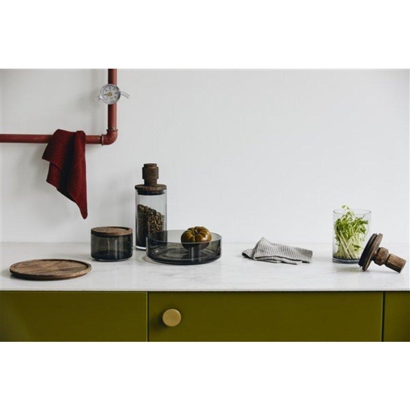 Nordal-collectie Glazen opbergpot BASILICO L rookglas