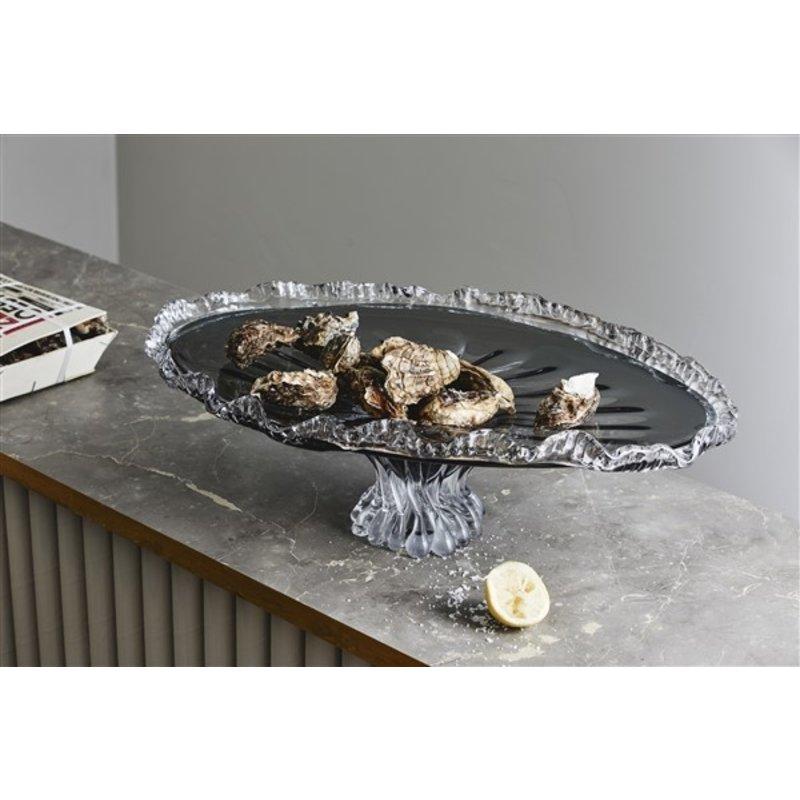 Nordal-collectie KATAJA fringe tray, smoke