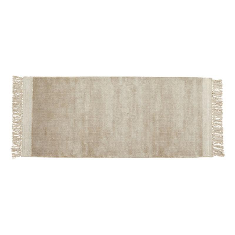 Nordal-collectie Vloerkleed FILUCA met franjes 200x75