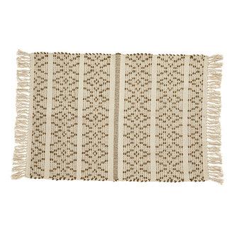Nordal JOY carpet, off white/brown pattern