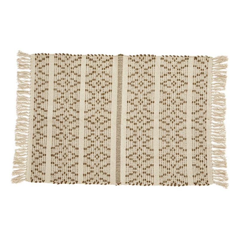 Nordal-collectie Vloerkleed JOY  gebroken wit / bruin 90x60