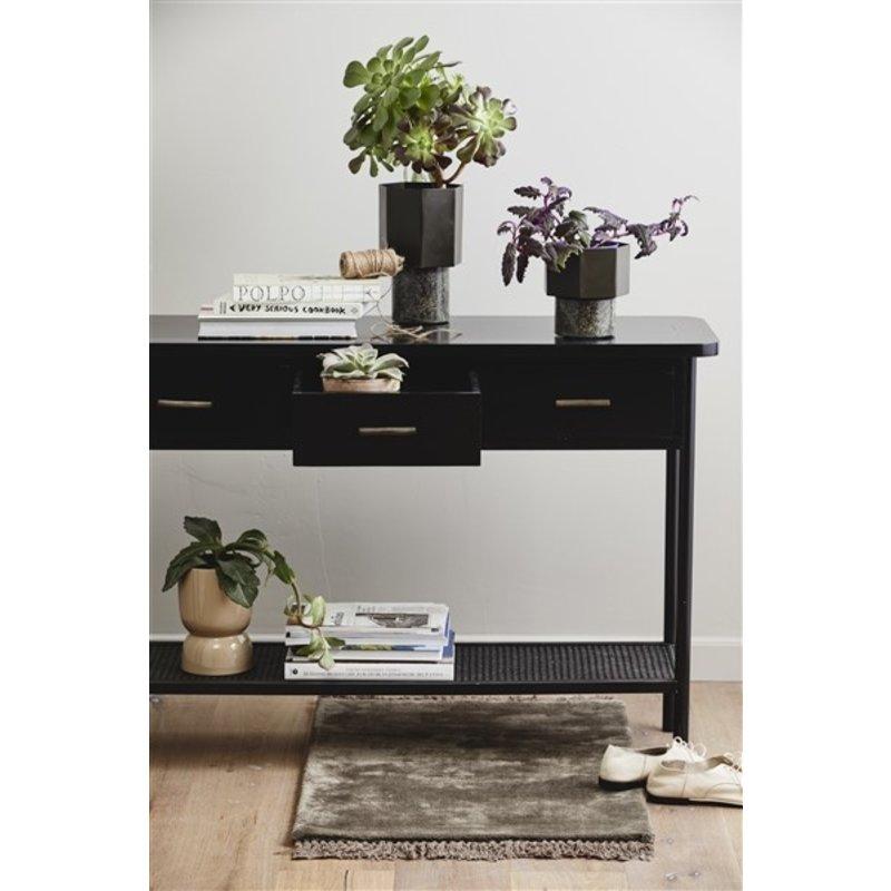 Nordal-collectie NOBLE warm grey carpet w/fringes