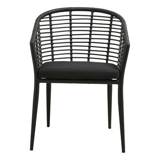 Nordal (tuin) stoel SALIX zwart